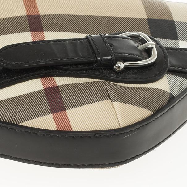 Burberry Nova Check Small Barton Hobo Bag