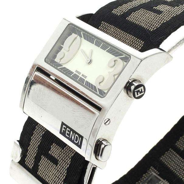 Fendi Cream Zip Code Womens Wristwatch 32 MM