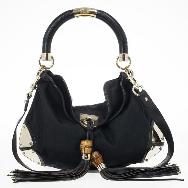 Gucci Monogram Black Canvas Indy Bag Nextprev Prevnext