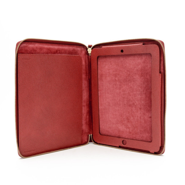 Burberry London Red Leather iPad Case