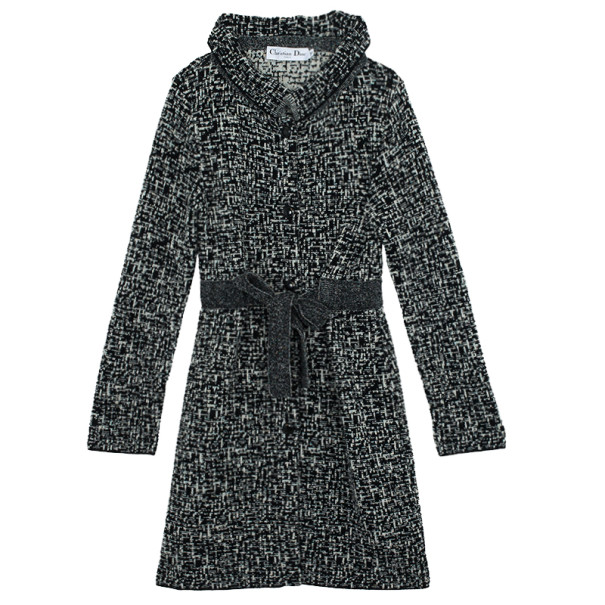 Christian Dior Tweed Trench Coat L