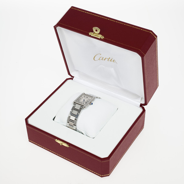 Cartier Tank Solo Small Stainless Steel Unisex Wristwatch 31 MM