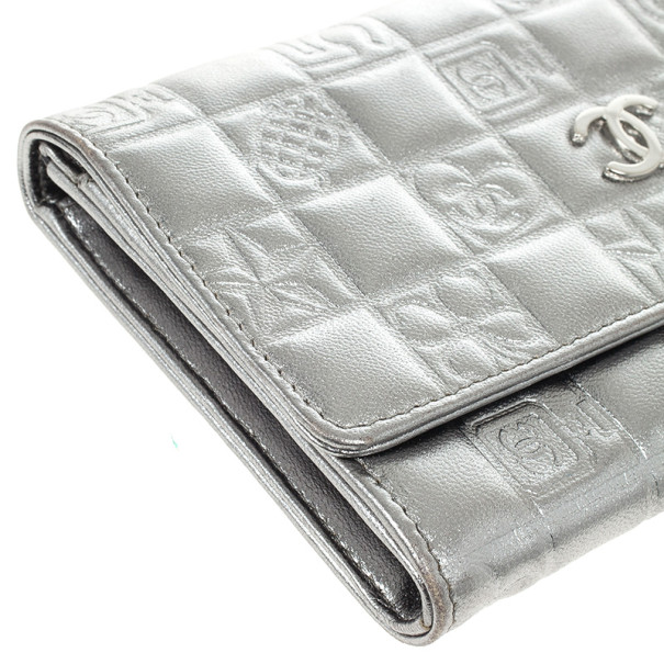 Chanel Metallic Quilted Lambskin Lucky Symbols Wallet