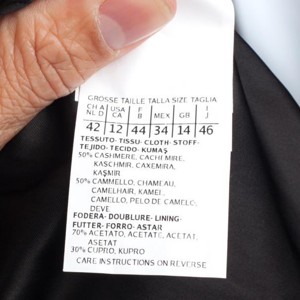 Max Mara Grey Cashmere Coat L