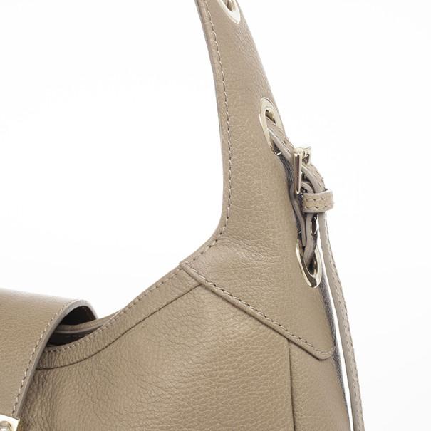 Jimmy Choo Beige Flap Bag