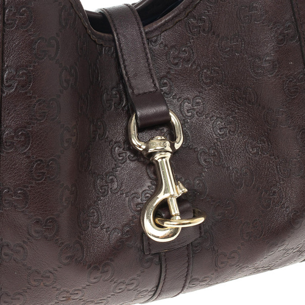 Gucci Brown Guccissima Bardot Bag