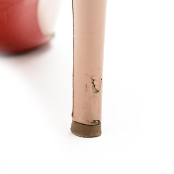 Christian Louboutin Nude Patent No Matter Peep Toe Pumps Size 37