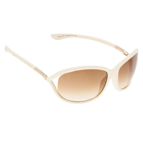 Tom Ford Cream Jennifer Soft Square Sunglasses