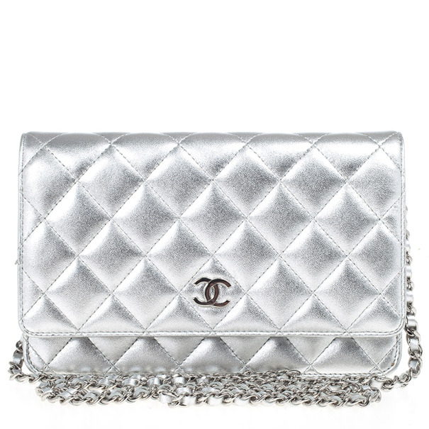 Chanel Silver Quilted Classic Woc Bag 22405 At Best Price Tlc