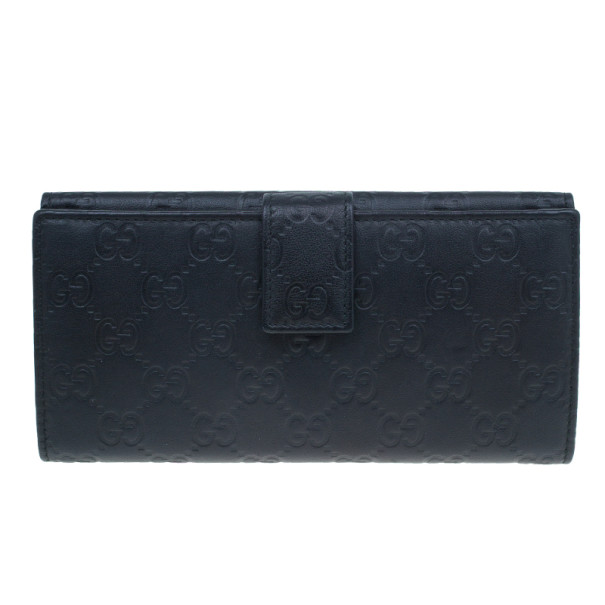 Gucci Black GG Guccissima Leather Continental Wallet