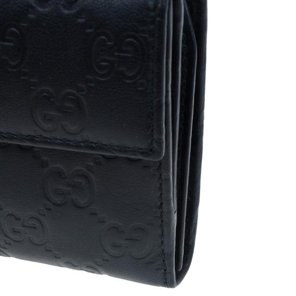 Gucci Black GG Guccissima Leather Continental Wallet