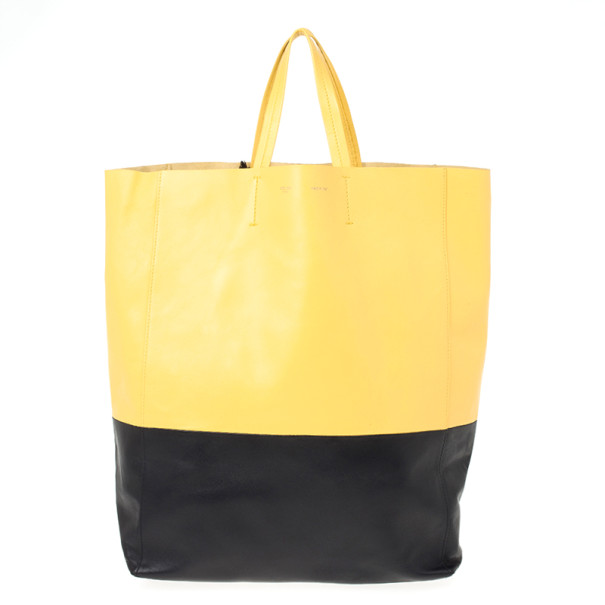 Celine Cabas Two Tone Tote