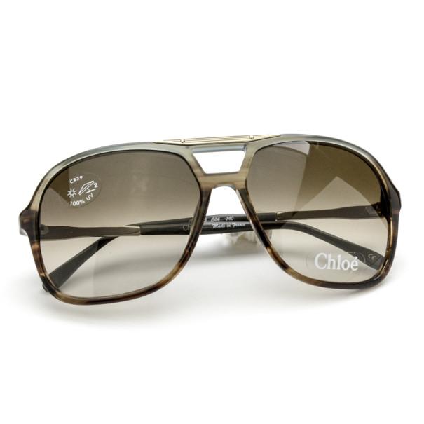Chloe Grey Aviator Style Unisex Sunglasses