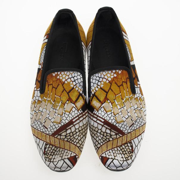 Alexander McQueen Jaquard Pattern Loafers Size 42