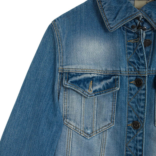 Burberry Brit Fitted Stretch Denim Jacket XS