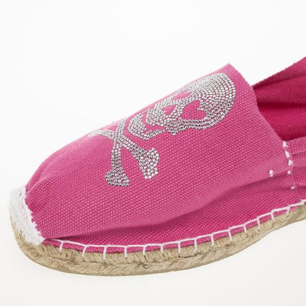 Sweet Matilda Pink Skull Espadrilles Size 40