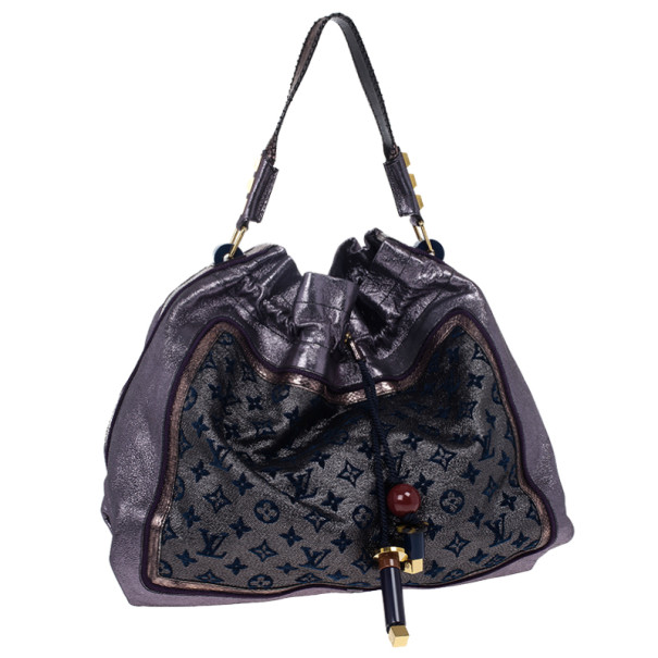 Louis Vuitton Limited Edition Purple Monogram Lurex Bluebird Bag