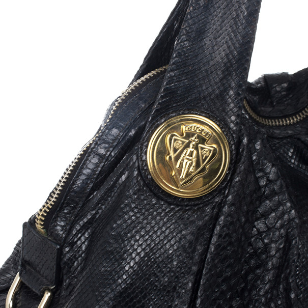 Gucci Beige Python Hysteria Large Tote