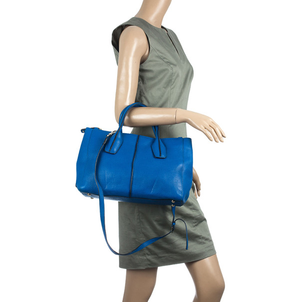 Tod's Pebbled Leather 'D-Styling Small' Convertible Satchel