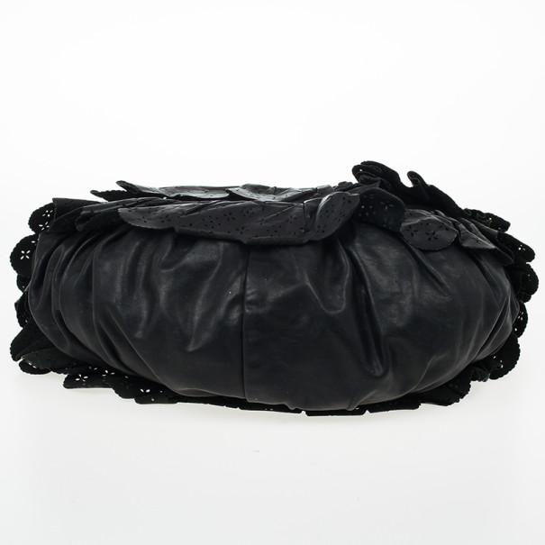Dior Gypsy Ruffles Hobo Shoulder Bag