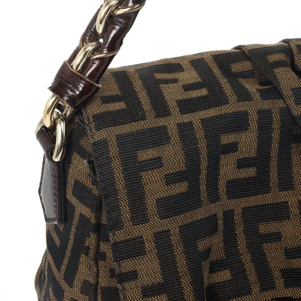 Fendi 'Mia Zucca' Logo Jacquard Flap Bag