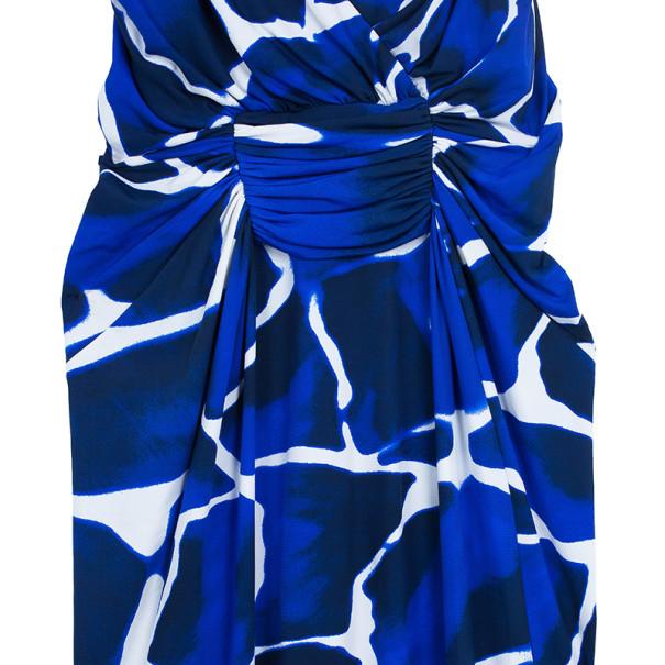 Roberto Cavalli Sleevless Snake Detailing Printed Maxi Dress M