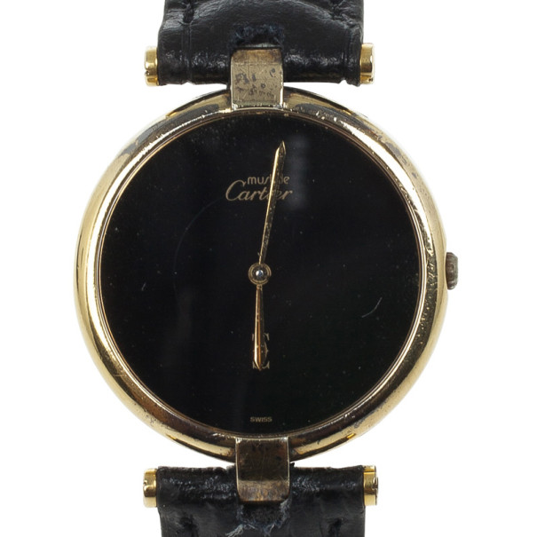Cartier Gold Plated Unisex Wristwatch 30 MM