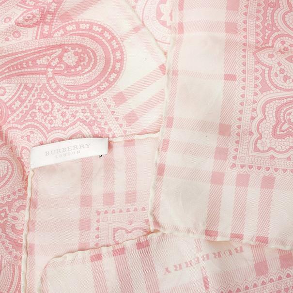 Burberry Printed Square Silk Scarf