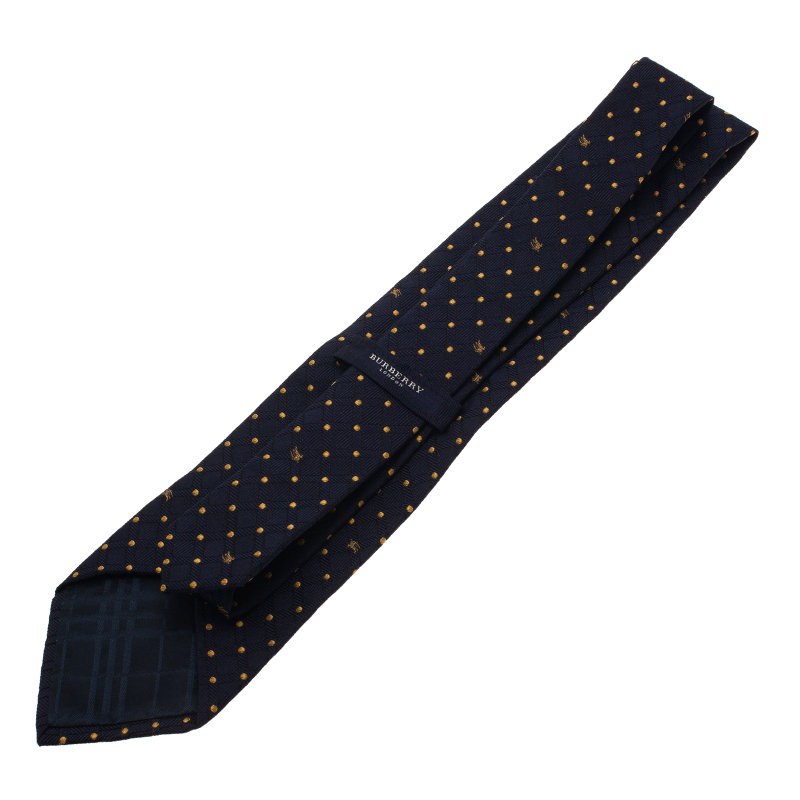 Burberry Blue Polka Dot Silk Tie