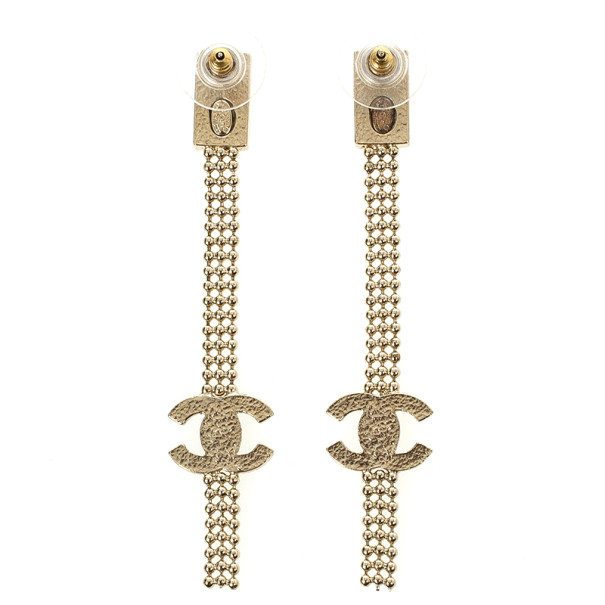 Chanel Pendant CC Crystal Earrings