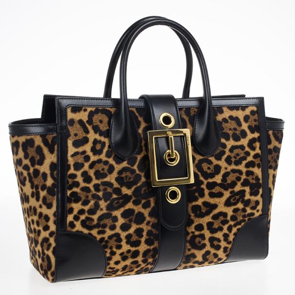 Gucci Lady Buckle Jaguar Print Top Handle Bag