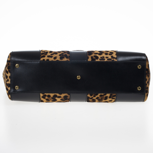 Gucci Lady Buckle Jaguar Print Top Handle Bag