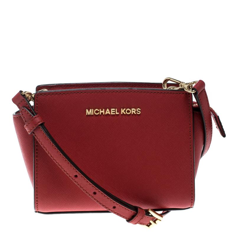 446a8338582f ... coupon for michael kors red saffiano leather mini selma crossbody bag.  nextprev. prevnext fca94