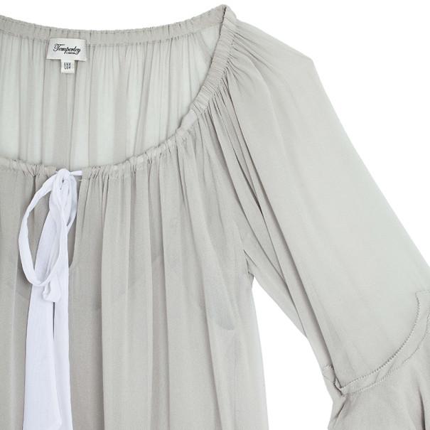 Temperley London Adeline Silk-blend Tunic Top S
