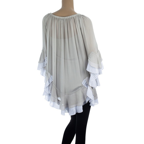 Temperley London Adeline Silk-blend Tunic Top S
