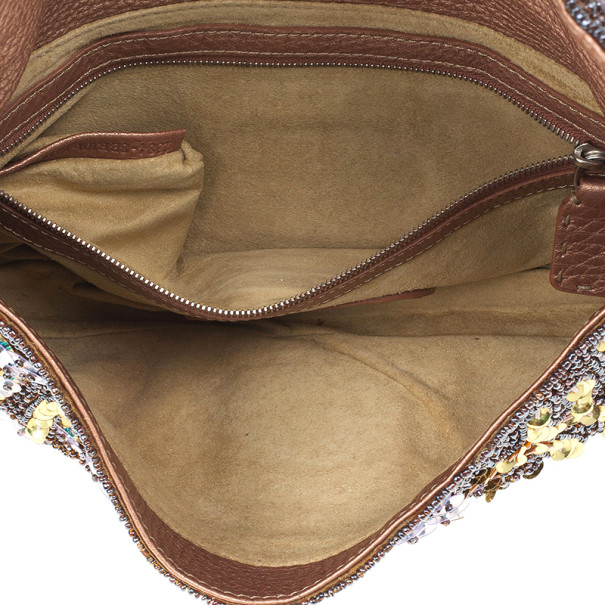 Fendi Rose Pebbled Leather Baguette