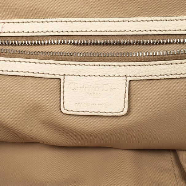 Christian Dior Beige Monogram My Dior Frame Pocket Satchel
