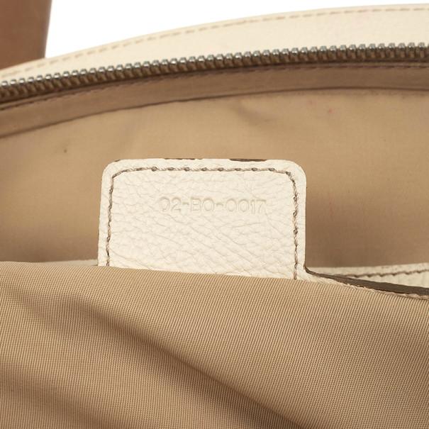 Christian Dior Beige Monogram My Dior Frame Pocket Satchel