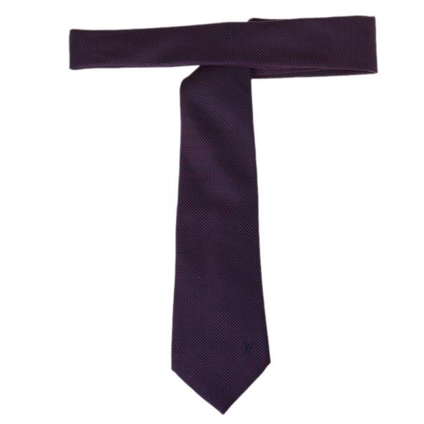Louis Vuitton Purple Silk Tie