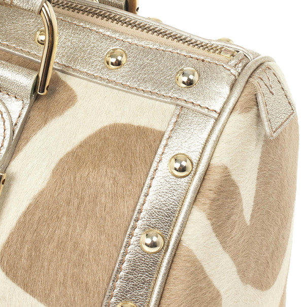 Versace Pony Hair 'Snap Out Of It' Satchel