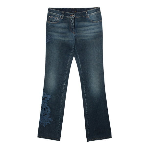 Fendi Embroidered Denim Jeans S