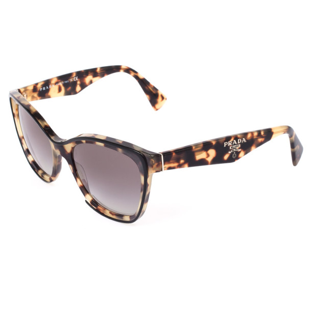 Prada Tortoise Shell Square Cat Eye Women's Sunglasses