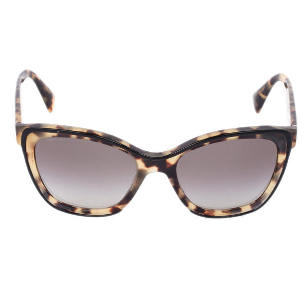 Prada Tortoise Shell Square Cat Eye Women's Sunglasses