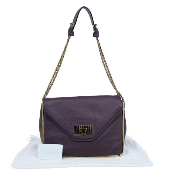 Chloé Purple Leather Small Sally Shoulder Bag