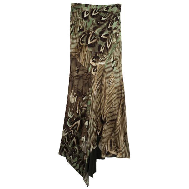 Roberto Cavalli Front Tie Skirt Set S