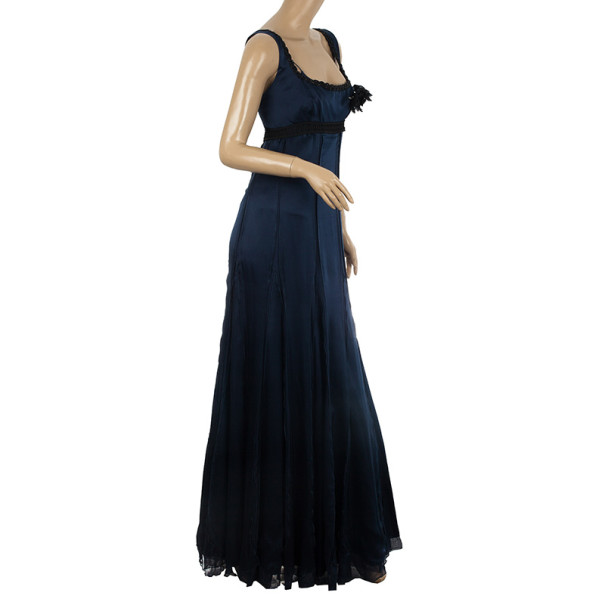 Alberta Ferretti Flare Maxi Dress L