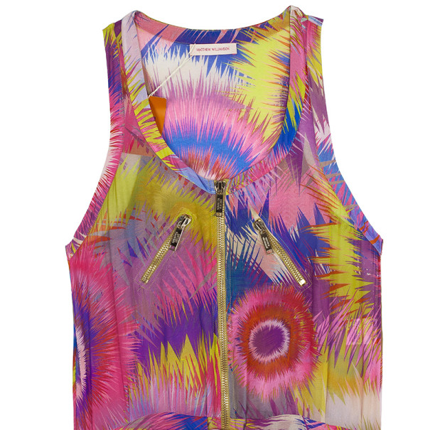 Matthew Williamson Bright Escape Silk Jumpsuit L