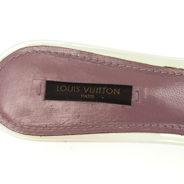 Louis Vuitton Brown Monogram Slides Size 39.5