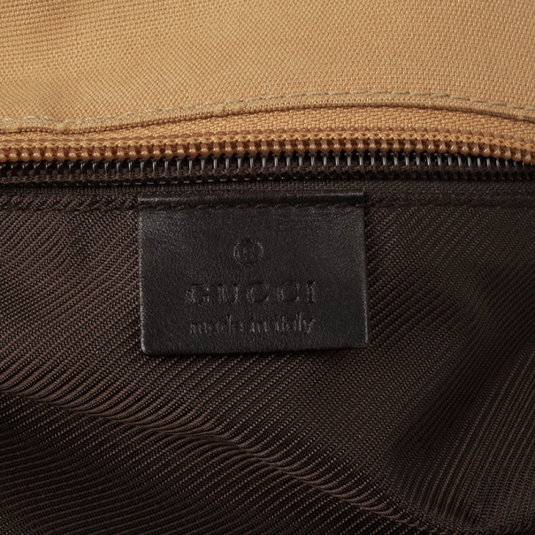 Gucci GG Canvas East West Zip Top Tote