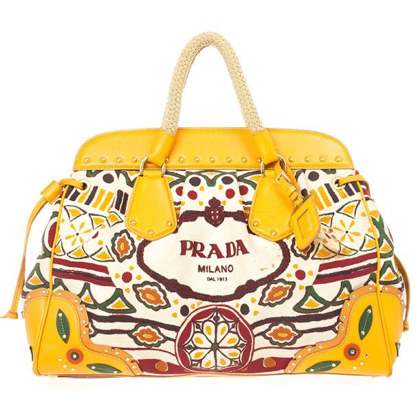 LC - Buy \u0026amp; Sell - Prada Canapa Stampata Frame Bag
